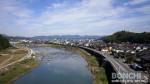 天領大橋からの日田市内方向の眺め
