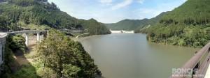 試験灌水の大山ダム