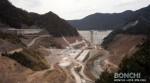 工事中の大山ダム