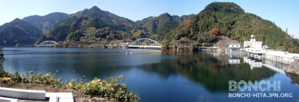 満水の松原ダム
