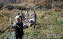 イノシシ防護柵設置