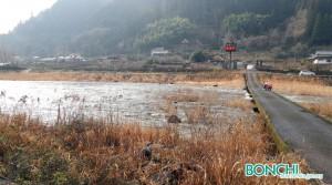 ダム下流の沈下橋(松原地区)