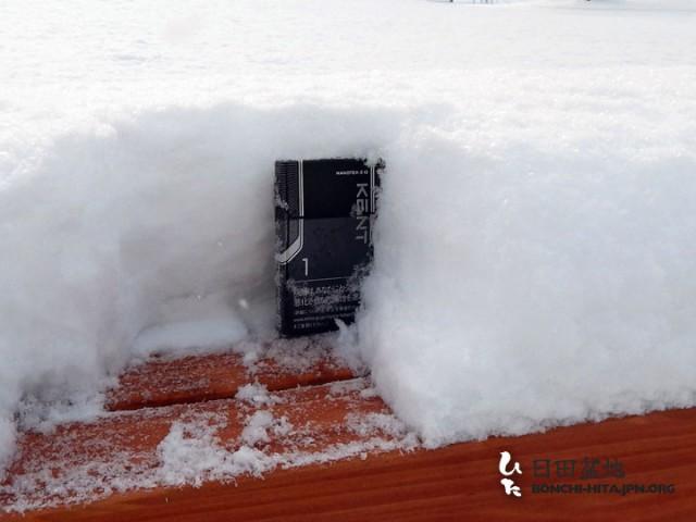 積雪は10センチ前後